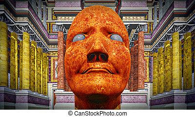 Dictator - Portrait of dictator in  colosseum