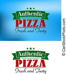 Italian pizza retro poster