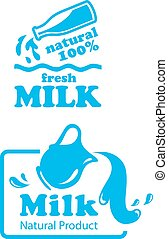 atural Milk labels or badges - Natural Milk labels or badges...