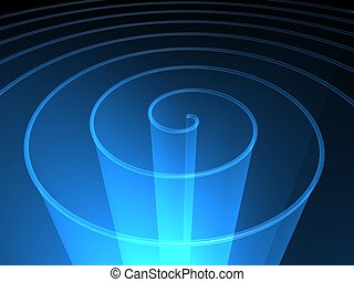 spiral background - blue transparent spiral technology...