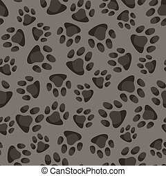 Seamless pattern background with abstract animal footprints.