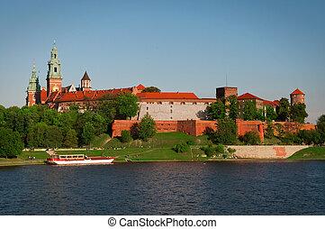 Wawel Castle - Wawel Castle and Wistula Krakow Poland
