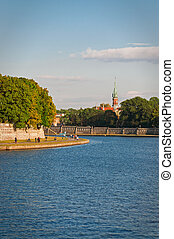 Bank of the river Vistula - Poland, Krakow Bank of the river...
