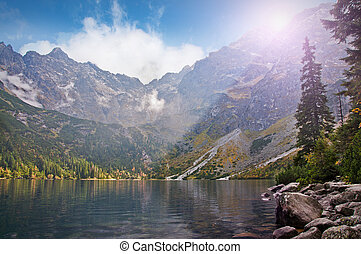 "Lake ""Sea Eye"" - Landscape. Lake ""Sea Eye"" in the Tatry..."