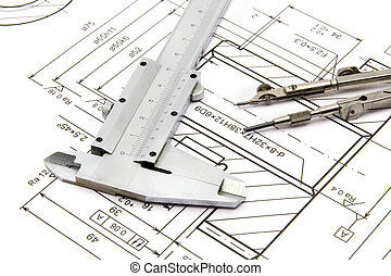Engineering - Equipment for engineering - caliper,...