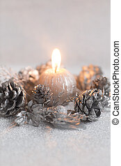 Christmas candle. - Christmas decorations with star....