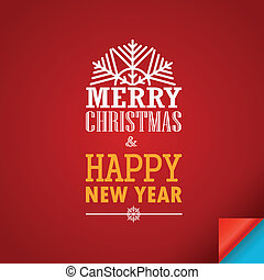 Merry Christmas and a happy New Year greeting card Design...
