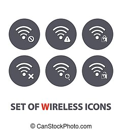 Set of wireless icons