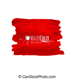 Bright red banner isolated on white background, vector...