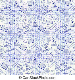 Seamless pattern  school