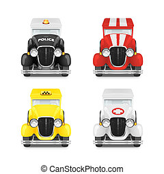 Set Retro Car Icon