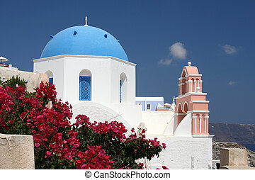 Church on Santorini in the town Oia