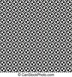 Black - white seamless pattern - Digital computer graphic -...