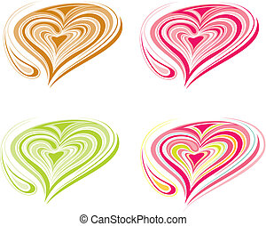 loving heart - colorful loving heart with milky foam