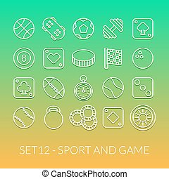 Outline icons thin flat design, modern line stroke style,...