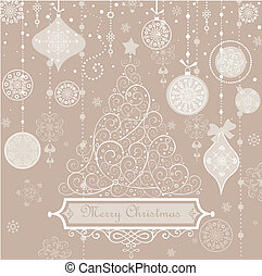 Retro greeting pastel card with xma