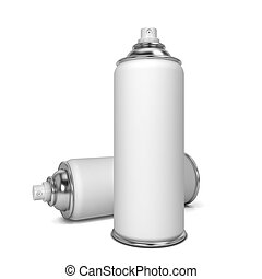 Blank spray 3d illustration isolated on white background