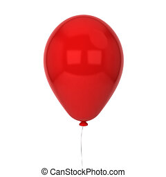 Single baloon 3d illustration isolated on white background
