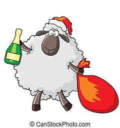 sheep Santa
