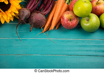 fresh vegetables on table - Farm fresh organic vegetables on...