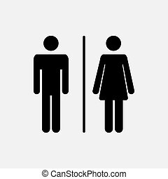 Male and female icon - Male and female WC icon denoting...