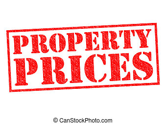 PROPERTY PRICES red Rubber Stamp over a white background.