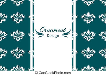 Curtain with floral ornament for your decor