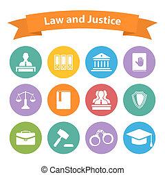 jogo, apartamento, lei, justiça, ícones
