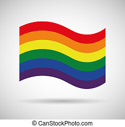 Gay pride flag - Illustration of a gay pride flag