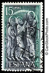 bas-relief from Monastery of Santo Domingo de Silos, Spain -...