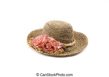 Hat  - Lady's hat isolated on a white background