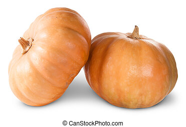 Mini Orange Pumpkins Isolated On A White Background