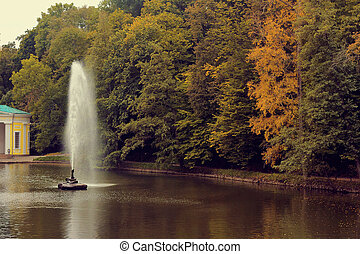 The Snake fountain Sofiyivsky Park located in Uman, Cherkasy...