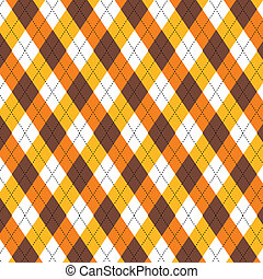Argyle pattern in autumn colors - Seamless repeating argyle...