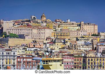 Cagliar, Italy Cityscape - Cagliari, Sardina, Italy...