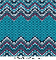 Horizontally Seamless Ethnic Geometric Knitted Pattern....