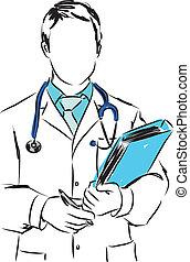 medical concepts 1 doctor illustration
