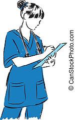 medical concepts 2 doctor nurse illustration