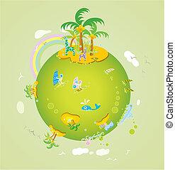 seascape on the earth