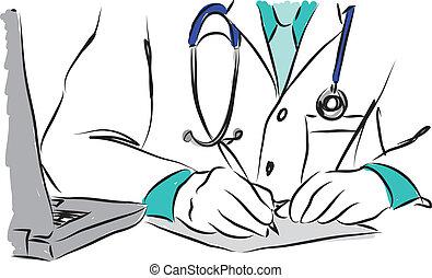 medical concepts 4 doctor illustration