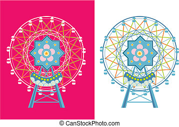 ferris wheel - two color ferris wheel.