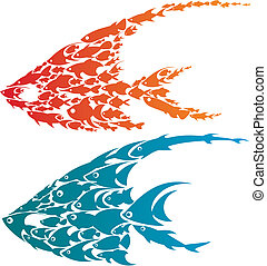 creative fish pattern design