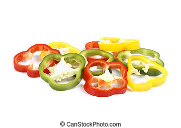 Rings of paprika - Fresh and tasty rings of paprika...