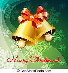 Christmas jingle bells - Christmas greeting card with jingle...