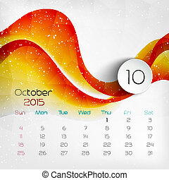 2015 Calendar October Vector illustration EPS 10