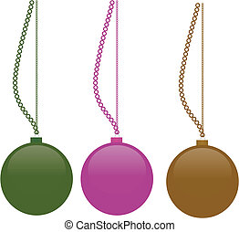 Vector christmass balls for decoration at home
