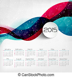 2015 Calendar Vector illustration - 2015 Year Calendar...
