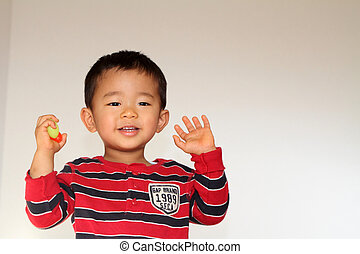 Smiling Japanese boy (2 years old)