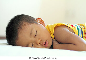 Sleeping Japanese boy 2 years old