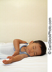 Sleeping Japanese boy 1 year old